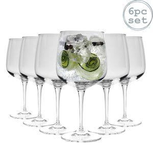 Bormioli Rocco Premium Gin & Tonic Cocktail Gläser - 755 ml - 6er Pack Copa Ballon-Gläser