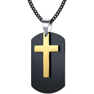 Mllaid Herren ecklace Kreuz Anhänger Gold Geburtstag Personalisiertes Geschenk Festival Personalisiert