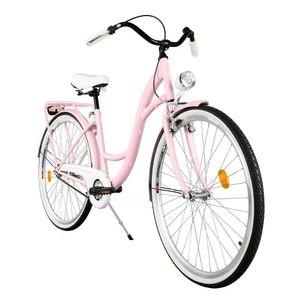 Milord Komfort Fahrrad Damenfahrrad Retro, 28 Zoll, Rosa, 3 Gang Shimano
