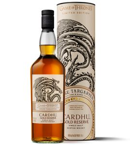 Cardhu Gold Reserve House Targaryen Game of Thrones GoT Limited Edition Single Malt Scotch Whisky | 40 % vol | 0,7 l
