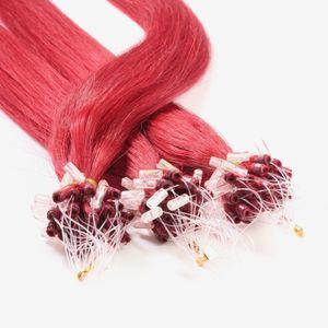 Microring Loops - glatt, Farbe:#rot, Länge:50cm, Stärke:0.5g