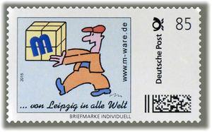 4 Cartoon-Briefmarken 'Europäer' á 85ct. Porto, 2015, M-ware® ID15572