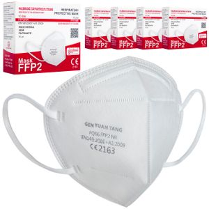 50x FFP2 Atemschutzmasken, Mundschutz, weiß, CE