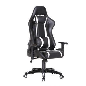 SVITA Bürostuhl Racingstuhl Schreibtischstuhl Schwarz Weiß