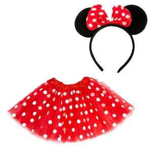 Oblique Unique Damen Maus Mouse Kostüm Accessoire Set - Tutu + Haarreifen mit Maus Ohren