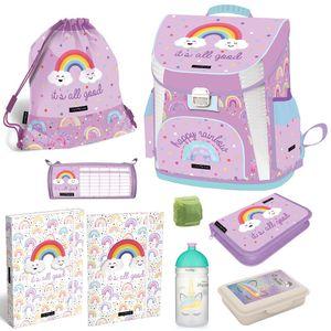 Mädchen Schulranzen-Set 9tlg. Ranzen 1. Klasse Lollipop Rainbow Regenbogen Bunt