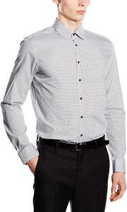 Seidensticker Herren Slim Fit Business Hemd Kragenweite: 39 cm, Grau (Grau 33)