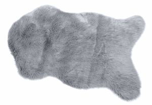 Fellteppich in der Größe 60x90cm, Farbe silber