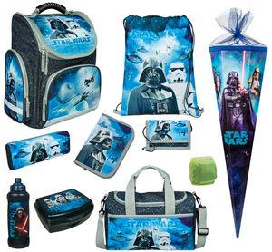 Star Wars Schulranzen Set 10tlg. Scooli EXPORT Sporttasche Schultüte 85cm