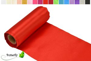 9m Rolle Satin Tischband 30cm, Farbauswahl:rot 250
