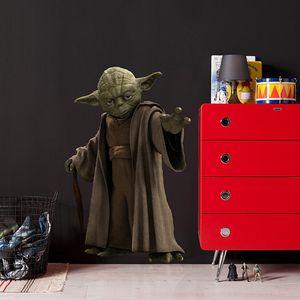 "Komar Deco-Sticker ""Star Wars Yoda"" 100 x 70 cm, grün/braun, 14721h"