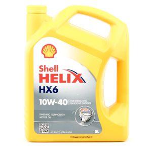 5 Liter SHELL 10W-40 Helix HX6 ACEA A3/B3 API SN API CF ACEA A3/B4 VW 502 00 Porsche A40 MB 229.3 VW 505 00