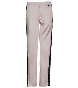 MEXX Stoff-Hose modische Damen Business-Hose mit Kontraststreifen Beige/Schwarz, Größe:38