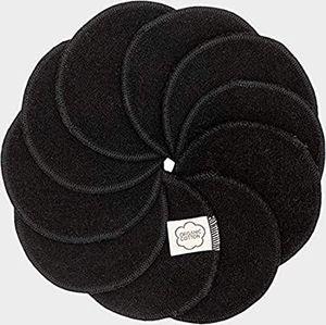 ImseVimse waschbare Abschminkpads 10 Stück Cleansingpads Reinigungspads Black Edition