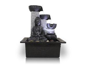 Zimmerbrunnen Tischbrunnen Dekobrunnen FoBuddha Pot mit LED 10782
