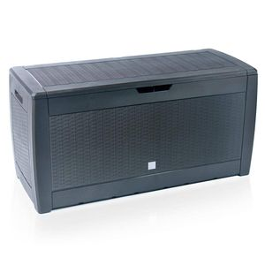 VOUNOT 310 Liter Kissenbox, Gartenbox Aufbewahrung Wasserdicht Auflagenbox, Anthrazit