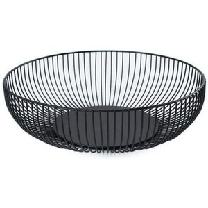 Obstschale aus Edelstahl in schwarz matt / Metall Obstkorb mit großem Fassungsvolumen – Skandinavische Deko - 28cm
