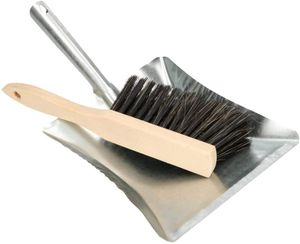 KOTARBAU® Kehrgarnitur 2 tlg. Kehrblech und Handfeger Kehrschaufel Handbesen Verzinkt Kehrset Kehrblech Kehrbesen Schaufel Besen Reinigung Stahl Holz