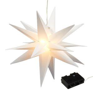Deko Leuchte Outdoor - Stern aus Kunststoff - Größe: 35 cm (Batterie)
