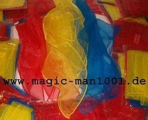 3 Jongliertücher 40 x 40 cm rot/gelb/blau Tanztücher Kinder