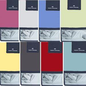 Tom Tailor  Spannbettlaken, 90 -100/200 cm, 77788-040 Jersey, 28 Farben, Farben:828-weis