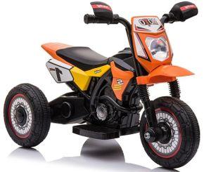 Kinder Elektro Motorrad Dreirad Trike TRIMOTO orange mit LED-Frontscheinwerfer