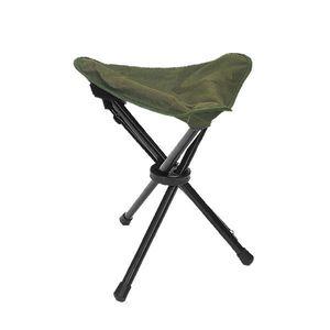 Olivgrüner Aluminium 3-Bein-Stuhl für Camping oder Wandern Parabellum 50136