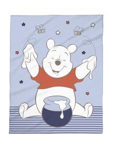 Disney Babydecke Winnie Pooh blau 75x100 Micro Flausch Decke