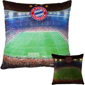 FC Bayern München LED Kissen Stadion 40 x 40 cm