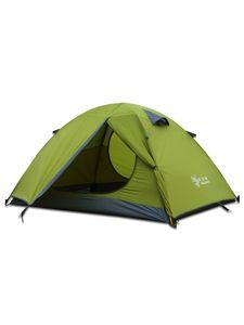Ultraleichtes Doppelschicht-Campingzelt 2/3 Person,Farbe: Grün,Größe:2 Person