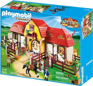 PLAYMOBIL Country Großer Reiterhof mit Paddocks Pferde Bauspielzeug Set 5221