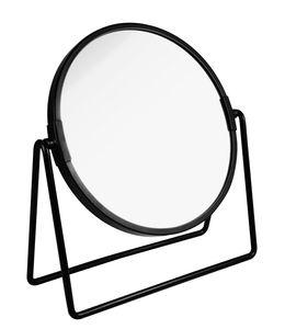 PARSA Beauty Kosmetikspiegel schwarz matt mit 3-fach Vergrößerung