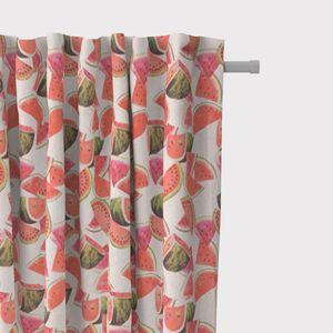 SCHÖNER LEBEN. BW-Vorhang Vorhangschal mit Smok-Schlaufenband Melonen 245cm oder Wunschlänge