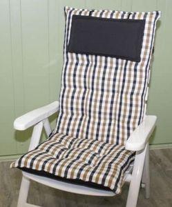 Sun Garden Hochlehnerauflagen Auflagen 90360-610 Sylt 120x50x8 cm Gartenmöbelauflage Sitzpolster Polster