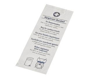 1000 Hygienebeutel 28 cm x 11 cm x 5,5 cm weiss  bedruckt