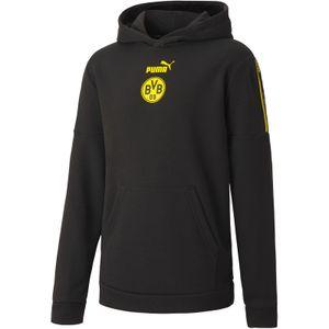 Puma BVB Borussia Dortmund FtblCulture Hoodie Kinder puma black/cyber yellow 164