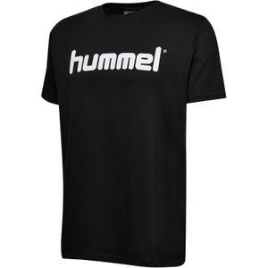 hummel hmlGO Baumwoll Logo T-Shirt kurzarm black XL