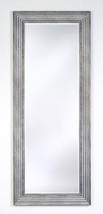 Casa Padrino Luxus Wohnzimmer Spiegel Silber / Schwarz 67 x H. 167 cm - Wohnzimmer Accessoires