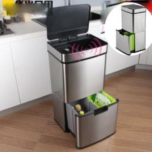 Ausla Mülleimer Automatik Sensor 72L Abfalleimer Recycling Müllbehälter Kücheneimer Küche Abfalleimer