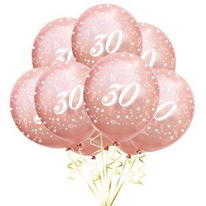 Oblique Unique Luftballon Set Zahl 30 für 30. Geburtstag Jubiläum Party 10 Deko Ballons roségold