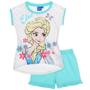 Disney Die Eiskönigin Shorty-Pyjama weiß