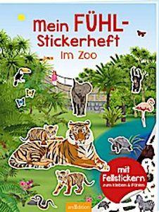 Mein Fühl-Stickerheft - Im Zoo