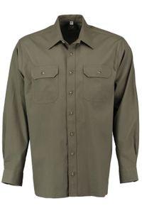 Jagdhemd hemd jäger Hemd Langarm Hemd, Farbe:Trachtengrün, Größe:5XL