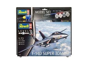 Revell Model Set F-14D Super Tomcat - Flugzeug-Modellbausatz; 63960