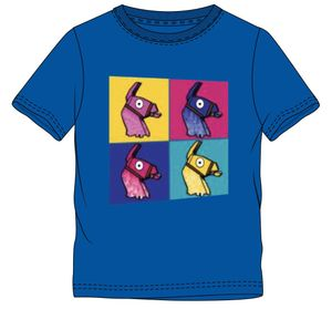 Fortnite T-Shirt 4 Lamas blau Größe 152