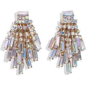 Mllaid Glaskristall Tropfen Ohrring Frauen Buchstabe Auge Kette Ohrring Statement Ohrringe