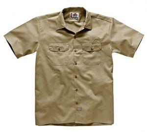 Dickies Short Sleeve Work Shirt Khaki, Größe: S