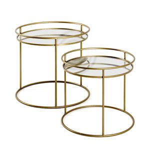 Haku 2er-Set Beistelltisch, gold - Maße: Ø 44/52 cm x H  40/48 cm; 22225