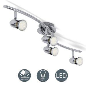 LED Decken-Leuchte Deckenlampe Deckenstrahler Deckenspot 2-flammig Spotleuchte inkl. 3W GU10 Leuchtmittel Chrom B.K.Licht