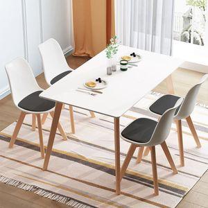 Esstisch mit 4 Esszimmerstühle skandinavischen Essgruppe 110x60x75cm für Esszimmer Essgruppe Kombipakete
